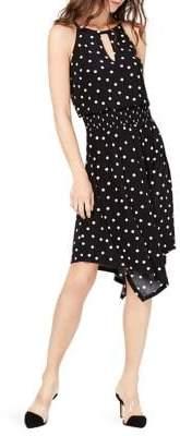 INC International Concepts Petite Sleeveless Printed Halter Dress