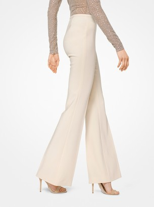 Michael Kors Stretch Pebble-Crepe Flared Trousers
