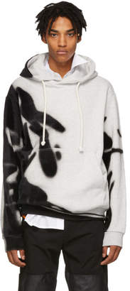 Maison Margiela Grey Spray Open End Hoodie