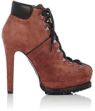 Alaia Women's Suede Platform Hiker Boots