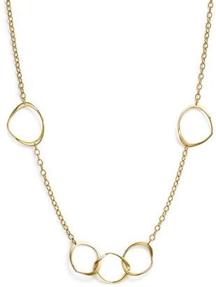 "Bloomingdale's 14K Yellow Gold Interlocking Wavy Circle Necklace, 18"" - 100% Exclusive"