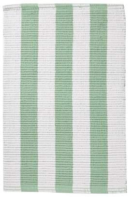 Moda At Home Aqua/White Loop Stripe Reversible Rug