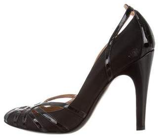 Salvatore Ferragamo Round-Toe Cutout Pumps