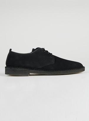 Topman CLARKS ORIGINALS Black Suede Desert Shoes