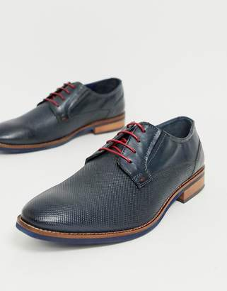 Silver Street leather formal shoes in navy