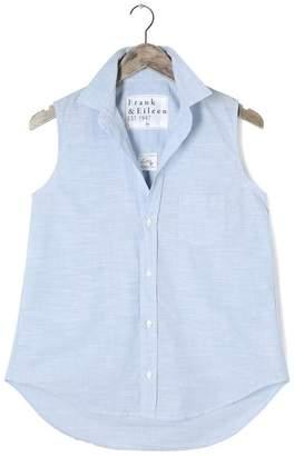 FRANK \u0026 EILEEN Fiona Sleeveless Solid Chambray Shirt
