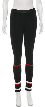Givenchy Striped Mid-Rise Leggings