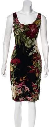 Dolce & Gabbana Sleeveless Printed Knee-Length Dress