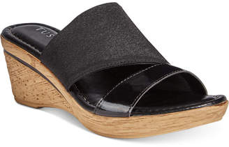 Easy Street Shoes Tuscany By Adagio Wedge Sandals Women's Shoes