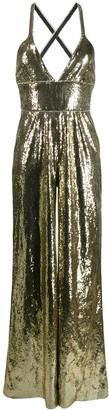 Dundas sequin wide leg jumpsuit