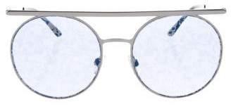 Giorgio Armani Round Floral Sunglasses w/ Tags