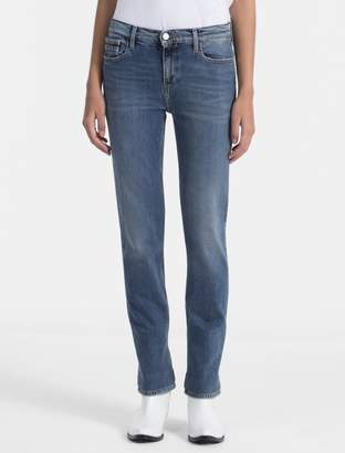 Calvin Klein straight fit mid rise vintage wash jeans