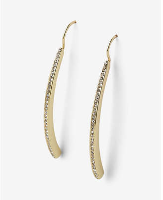 Express Pave Metal Bar Earrings $19.90 thestylecure.com