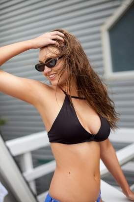 Out From Under Cut-Out Solid Bikini Top