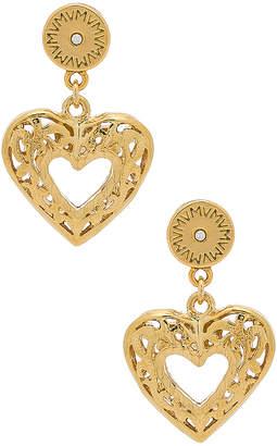 Vanessa Mooney The Charlotte Heart Earrings
