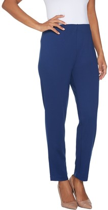 Brooke Shields Timeless BROOKE SHIELDS Timeless Petite Ponte Ankle Pants w/ Side Zip