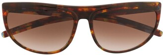 Krizia Pre-Owned 1990s oval frame sunglasses