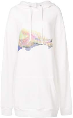 Maison Margiela printed front hoodie dress