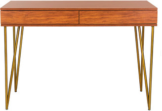 One Kings Lane Banks Desk - Natural/Gold