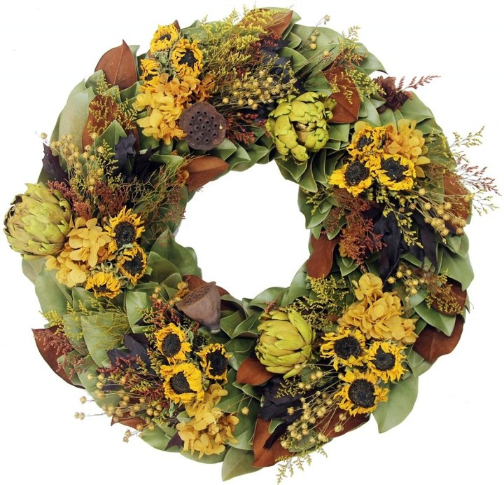 Dried Golden Sunflowers Fall Wreath-Available in Four Different Sizes