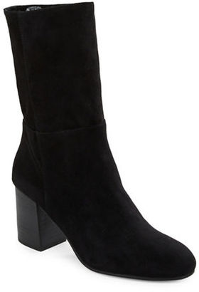 Eileen Fisher Cinch Mid-Calf Suede Boots $295 thestylecure.com