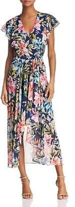 Eliza J Floral Faux-Wrap Dress