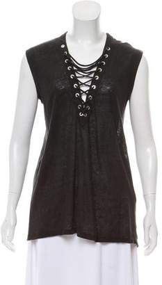IRO Sleeveless Lace-Up Top