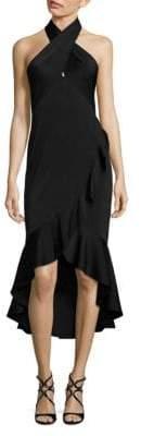 Shoshanna MIDNIGHT Ruffled Trim Dress