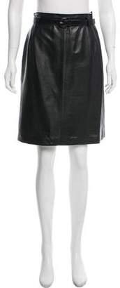 Loewe Leather Knee-Length Skirt