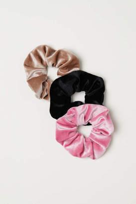 H&M 3-pack Hair Elastics - Pink/velour - Women