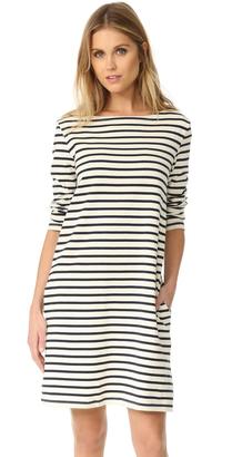Petit Bateau Hannah Long Sleeve Striped Dress $142 thestylecure.com