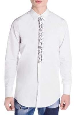 DSQUARED2 Main Slim-Fit Ruffled Shirt