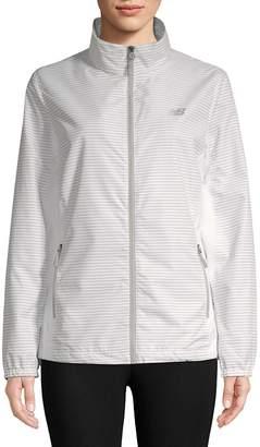New Balance Women's Striped Full-Zip Jacket