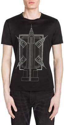 Giorgio Armani Men's Empire State Building Print Tee