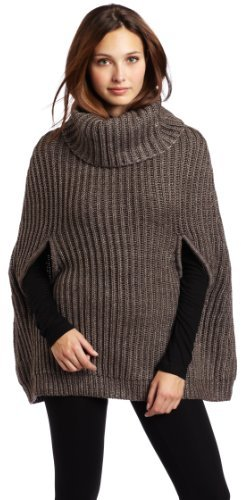 BCBGMAXAZRIA Women's Harvey Turtleneck Cape Sweater