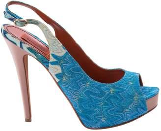 Missoni Blue Cloth Sandals
