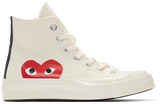 Comme des Garcons Off-White Converse Edition Half Heart Chuck 70 Hi Sneakers