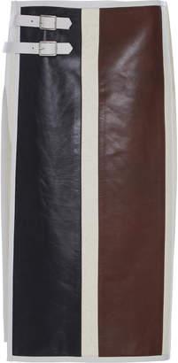 Jil Sander Larissa Color-Block Wool-Blend Skirt Size: 36