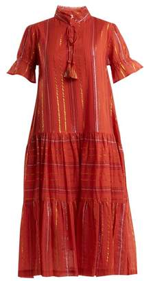 Apiece Apart Los Altos Striped Cotton Blend Dress - Womens - Red Stripe