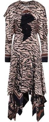 Roberto Cavalli Animal-print Silk Midi Dress