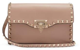 Valentino Rockstud Small Leather Cross Body Bag - Womens - Nude