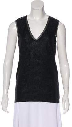 Reiss Tonal Sleeveless Top