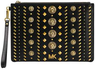 MICHAEL Michael Kors lion embellished square clutch
