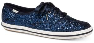 Kate Spade Keds for Glitter Lace-Up Sneakers