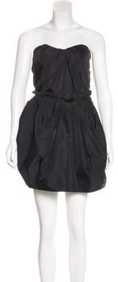 Marc Jacobs Silk Strapless Dress Black Silk Strapless Dress