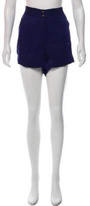 Diane von Furstenberg Taipa High-Rise Mini Shorts