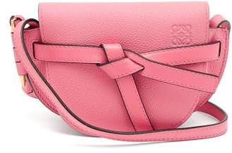 Loewe Gate Mini Grained Leather Cross Body Bag - Womens - Pink
