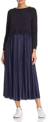 Max Mara Re Sweater-Overlay Dress