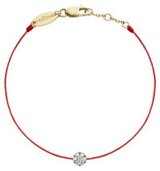 Redline Single Diamond Red Illusion Bracelet - Yellow Gold