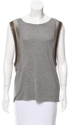 AllSaints Sleeveless Embellished Top